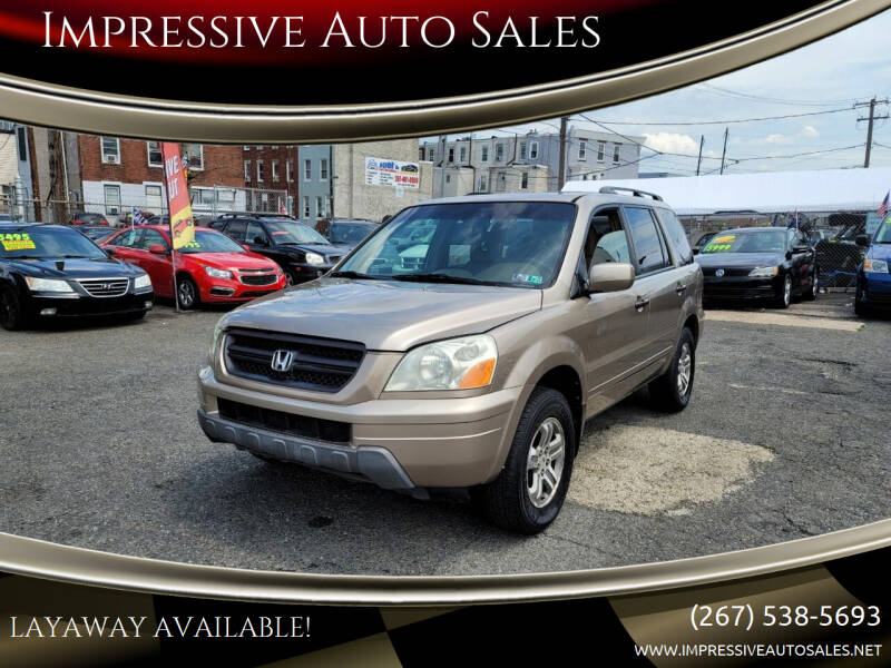 2003 Honda Pilot for sale at Impressive Auto Sales in Philadelphia PA