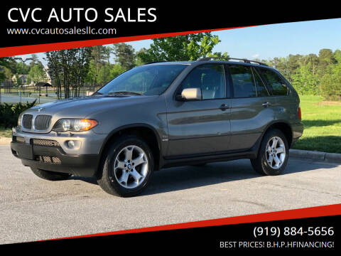 2006 BMW X5 for sale at CVC AUTO SALES in Durham NC