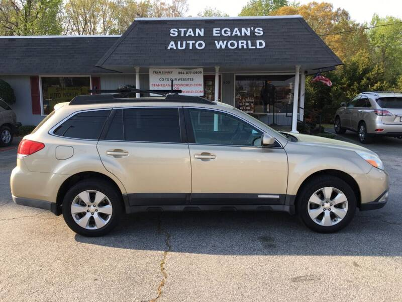 2010 Subaru Outback for sale at STAN EGAN'S AUTO WORLD, INC. in Greer SC
