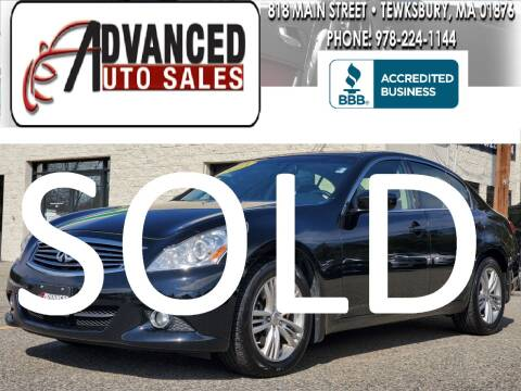 2013 Infiniti G37 Sedan for sale at Advanced Auto Sales in Tewksbury MA