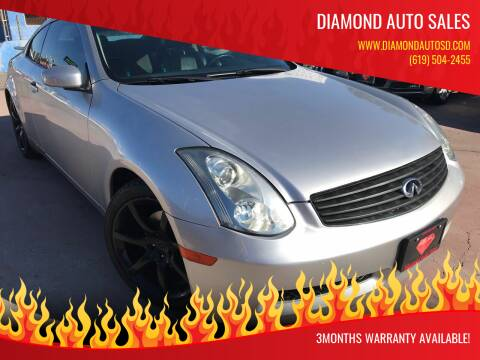 2003 Infiniti G35 for sale at DIAMOND AUTO SALES in El Cajon CA