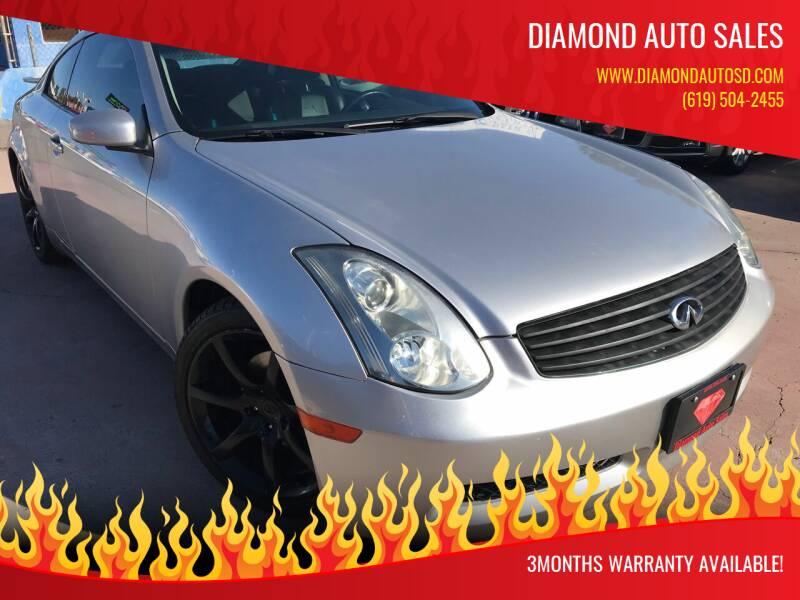 2003 Infiniti G35 for sale at DIAMOND AUTO SALES in El Cajon CA