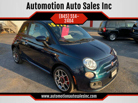 2013 FIAT 500 for sale at Automotion Auto Sales Inc in Kingston NY