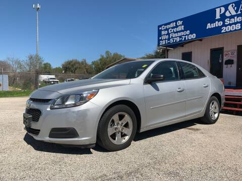 2014 Chevrolet Malibu for sale at P & A AUTO SALES in Houston TX