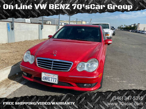 2007 Mercedes-Benz C-Class for sale at On Line VW BENZ 70'sCar Group in Warehouse CA