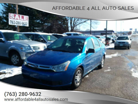 2010 Ford Focus for sale at Affordable 4 All Auto Sales in Elk River MN
