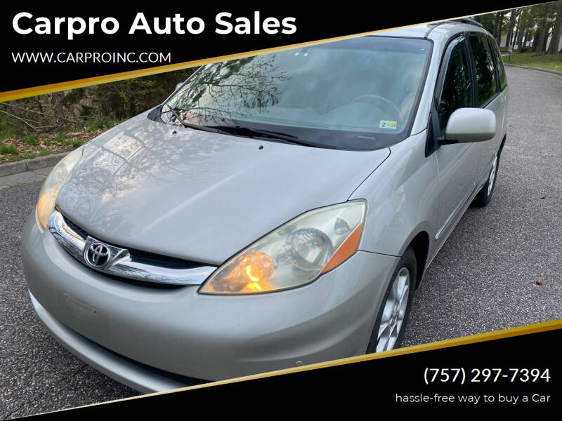 2006 Toyota Sienna for sale at Carpro Auto Sales in Chesapeake VA