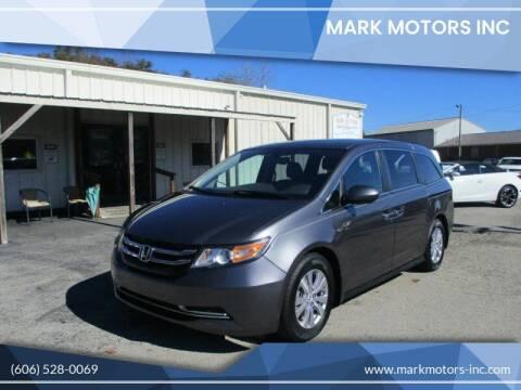 2016 Honda Odyssey for sale at Mark Motors Inc in Gray KY
