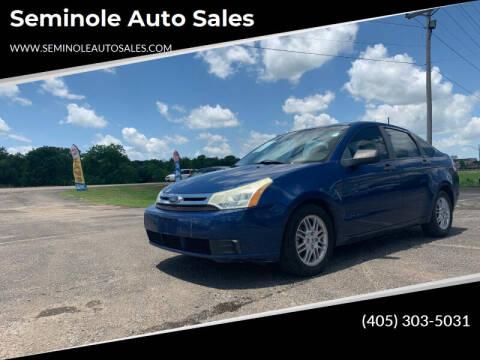 2009 Ford Focus for sale at Seminole Auto Sales in Seminole OK