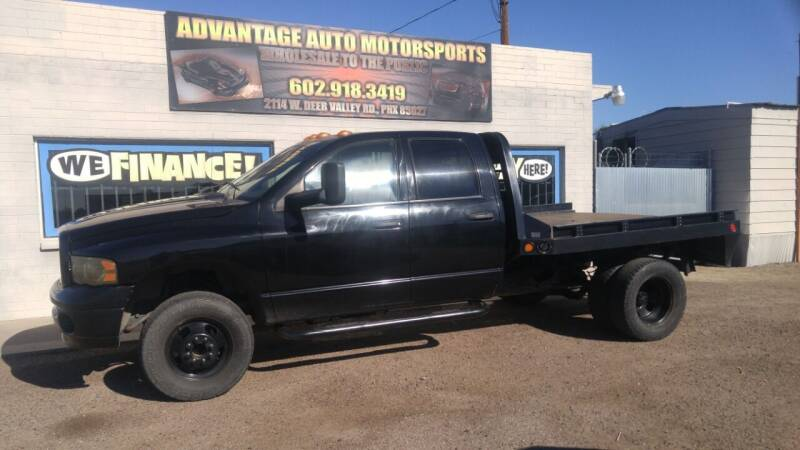 2004 Dodge Ram Pickup 3500 for sale at Advantage Auto Motorsports in Phoenix AZ