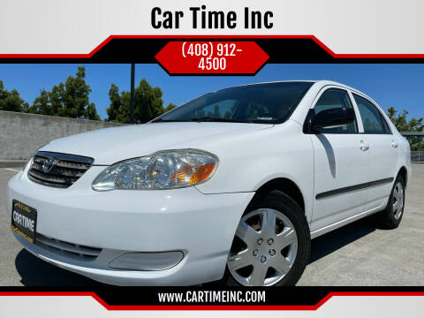2006 Toyota Corolla for sale at Car Time Inc in San Jose CA