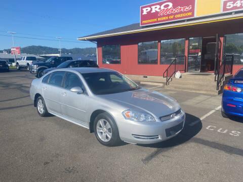 2013 Chevrolet Impala for sale at Pro Motors in Roseburg OR