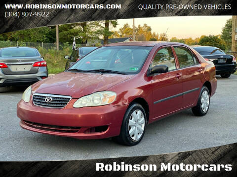 2005 Toyota Corolla for sale at Robinson Motorcars in Inwood WV
