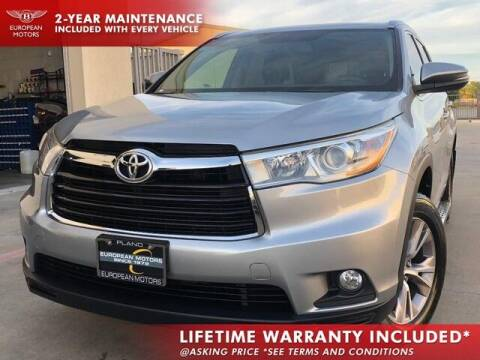 2015 Toyota Highlander for sale at European Motors Inc in Plano TX