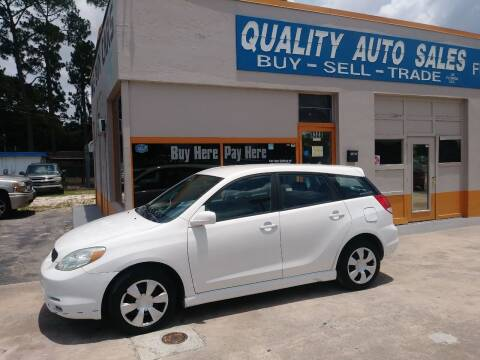 2003 Toyota Matrix for sale at QUALITY AUTO SALES OF FLORIDA in New Port Richey FL