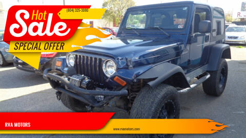 2006 Jeep Wrangler for sale at RVA MOTORS in Richmond VA