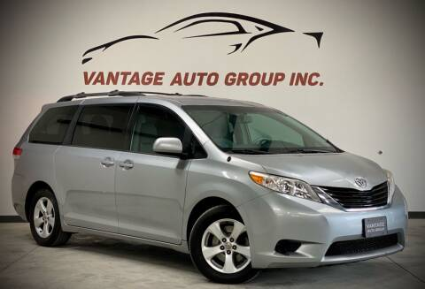 2012 Toyota Sienna for sale at Vantage Auto Group Inc in Fresno CA