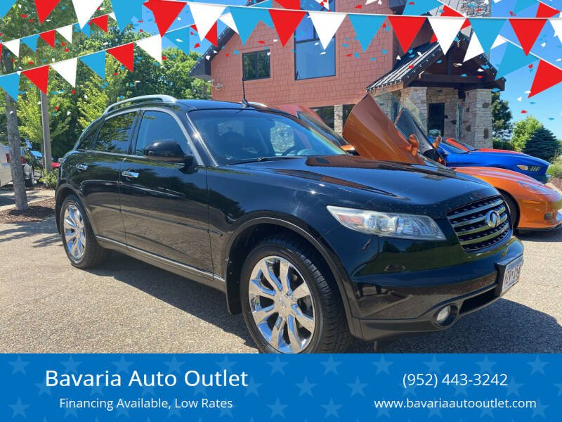 2005 Infiniti FX35 for sale at Bavaria Auto Outlet in Victoria MN