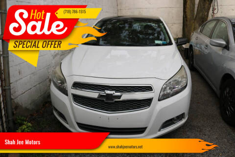 2013 Chevrolet Malibu for sale at Shah Jee Motors in Woodside NY
