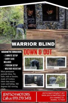 Down & Out Warrior Blind for sale at JENTSCH MOTORS in Hearne TX