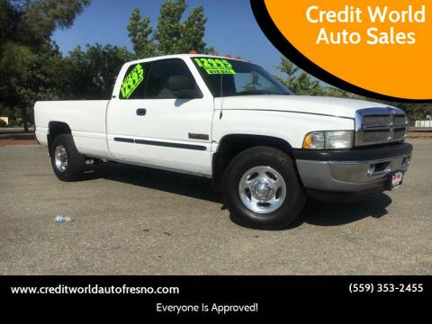 2001 Dodge Ram Pickup 2500 for sale at Credit World Auto Sales in Fresno CA