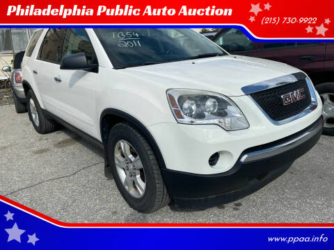 2011 GMC Acadia for sale at Philadelphia Public Auto Auction in Philadelphia PA