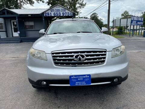 2008 Infiniti FX35 for sale at QUALITY PREOWNED AUTO in Houston TX