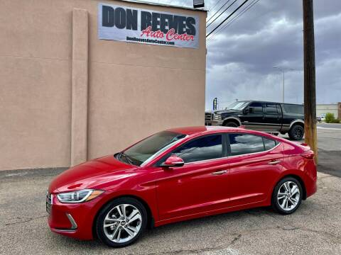 2017 Hyundai Elantra for sale at Don Reeves Auto Center in Farmington NM