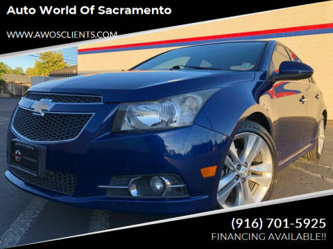 2012 Chevrolet Cruze for sale at Auto World of Sacramento Stockton Blvd in Sacramento CA