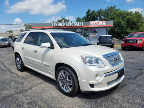 2011 GMC Acadia for sale at Samford Auto Sales in Riverview MI