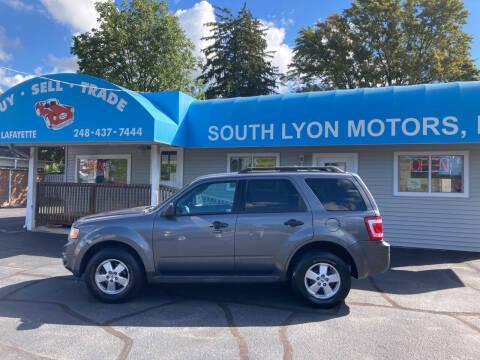 2010 Ford Escape for sale at South Lyon Motors INC in South Lyon MI