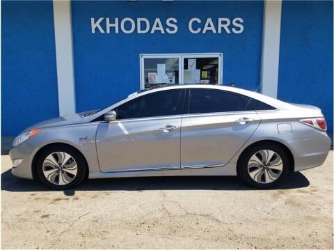 2013 Hyundai Sonata Hybrid for sale at Khodas Cars in Gilroy CA