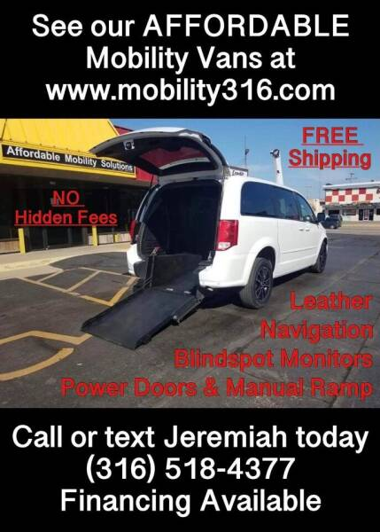 2017 Dodge Grand Caravan for sale at Affordable Mobility Solutions, LLC - Mobility/Wheelchair Accessible Inventory-Wichita in Wichita KS
