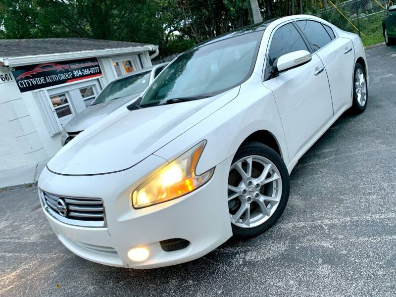 2012 Nissan Maxima for sale at Citywide Auto Group LLC in Pompano Beach FL