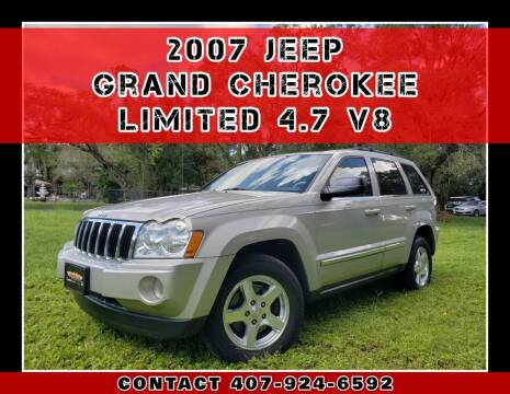 2007 Jeep Grand Cherokee for sale at AFFORDABLE ONE LLC in Orlando FL