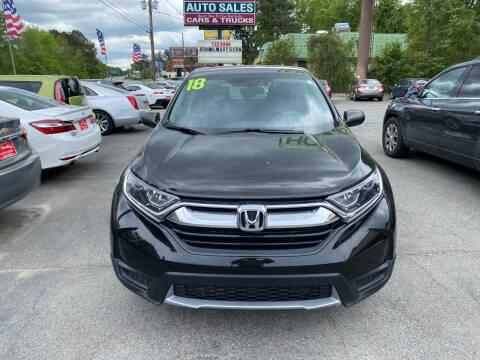 2018 Honda CR-V for sale at J Franklin Auto Sales in Macon GA