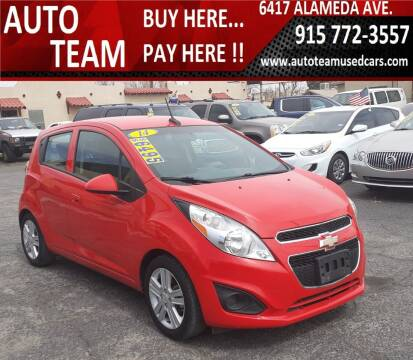 2014 Chevrolet Spark for sale at AUTO TEAM in El Paso TX