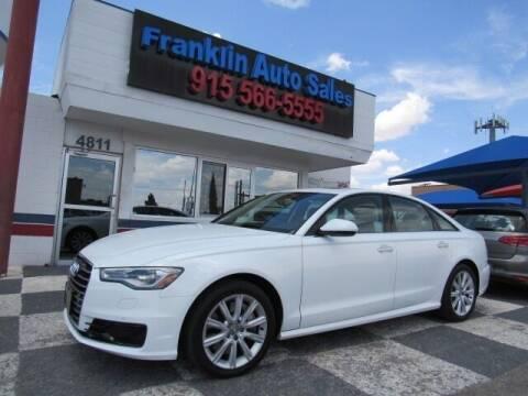 2016 Audi A6 for sale at Franklin Auto Sales in El Paso TX