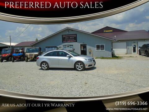 2014 Chevrolet Cruze for sale at PREFERRED AUTO SALES in Lockridge IA