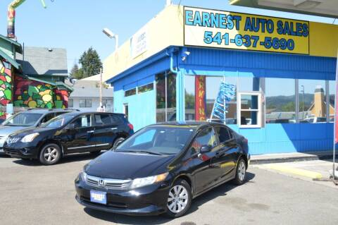 2012 Honda Civic for sale at Earnest Auto Sales in Roseburg OR