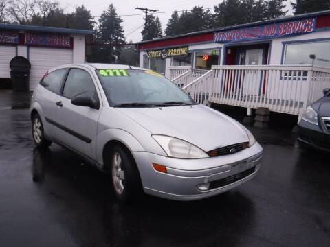 2001 Ford Focus for sale at 777 Auto Sales and Service in Tacoma WA