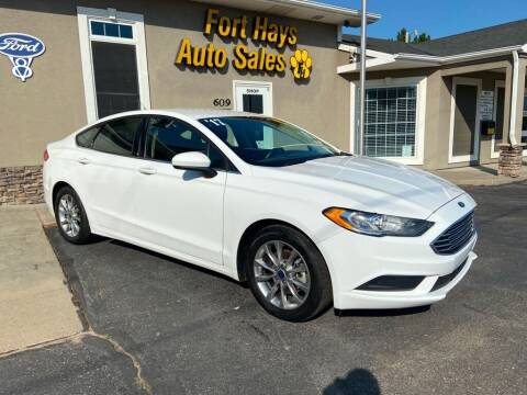 2017 Ford Fusion for sale at Fort Hays Auto Sales in Hays KS