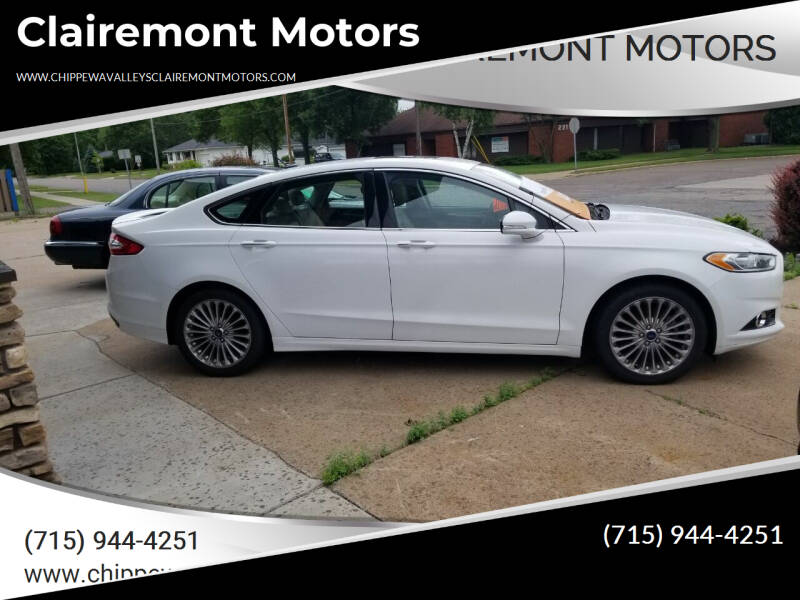 2015 Ford Fusion for sale at Clairemont Motors in Eau Claire WI