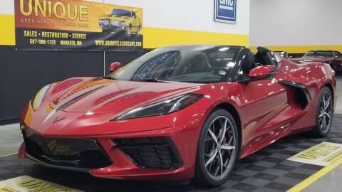 2021 Chevrolet Corvette for sale at UNIQUE SPECIALTY & CLASSICS in Mankato MN