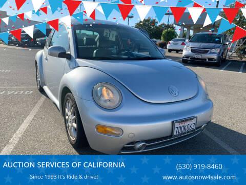 2004 Volkswagen New Beetle for sale at AUCTION SERVICES OF CALIFORNIA in El Dorado CA