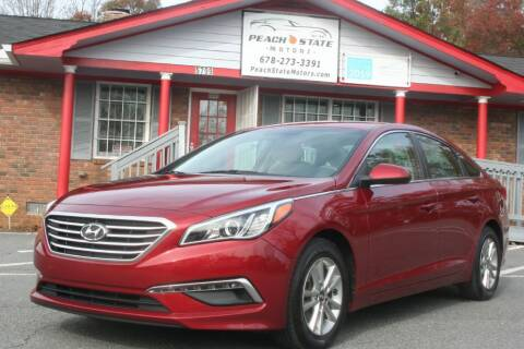 2015 Hyundai Sonata for sale at Peach State Motors Inc in Acworth GA