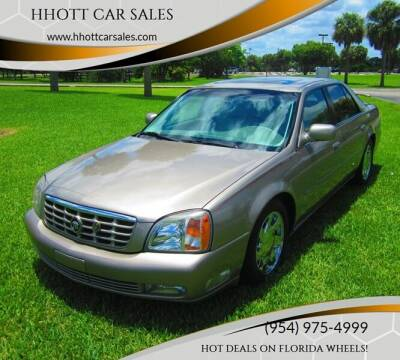 2001 Cadillac DeVille for sale at HHOTT CAR SALES in Deerfield Beach FL