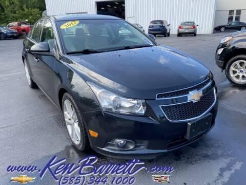 2012 Chevrolet Cruze for sale at KEN BARRETT CHEVROLET CADILLAC in Batavia NY