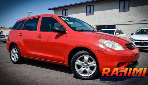 2005 Toyota Matrix for sale at Rahimi Automotive Group in Yuma AZ