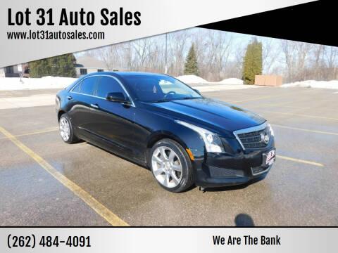 2013 Cadillac ATS for sale at Lot 31 Auto Sales in Kenosha WI